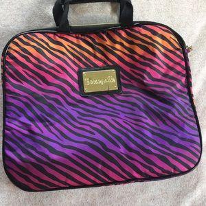 Betsey Johnson Zebra Laptop Bag